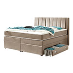 Atlantic Home Collection Creme Boxspringbett mit Bettkasten